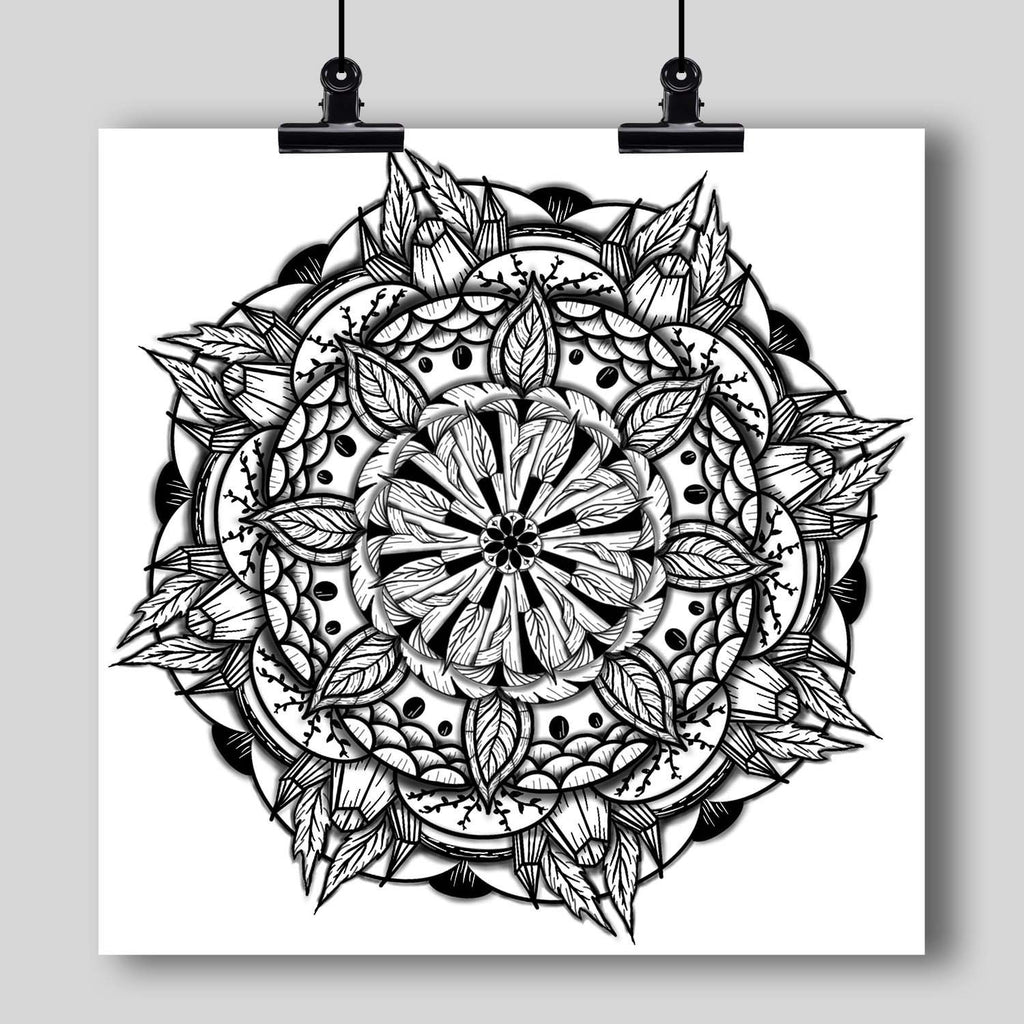 """Mandala"" Art Print #15 by Artist Dan Pearce - Dan Pearce Creative Shop"