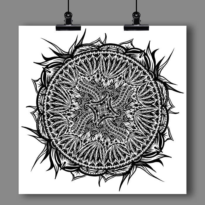 """Mandala"" Art Print #16 by Artist Dan Pearce - Dan Pearce Creative Shop"