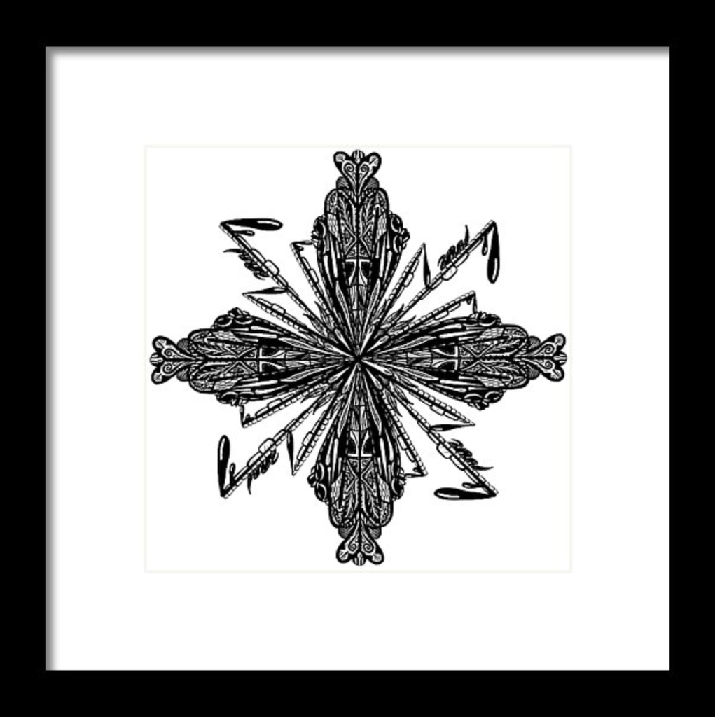 """Mandala"" Art Print #2 by Artist Dan Pearce - Dan Pearce Creative Shop"