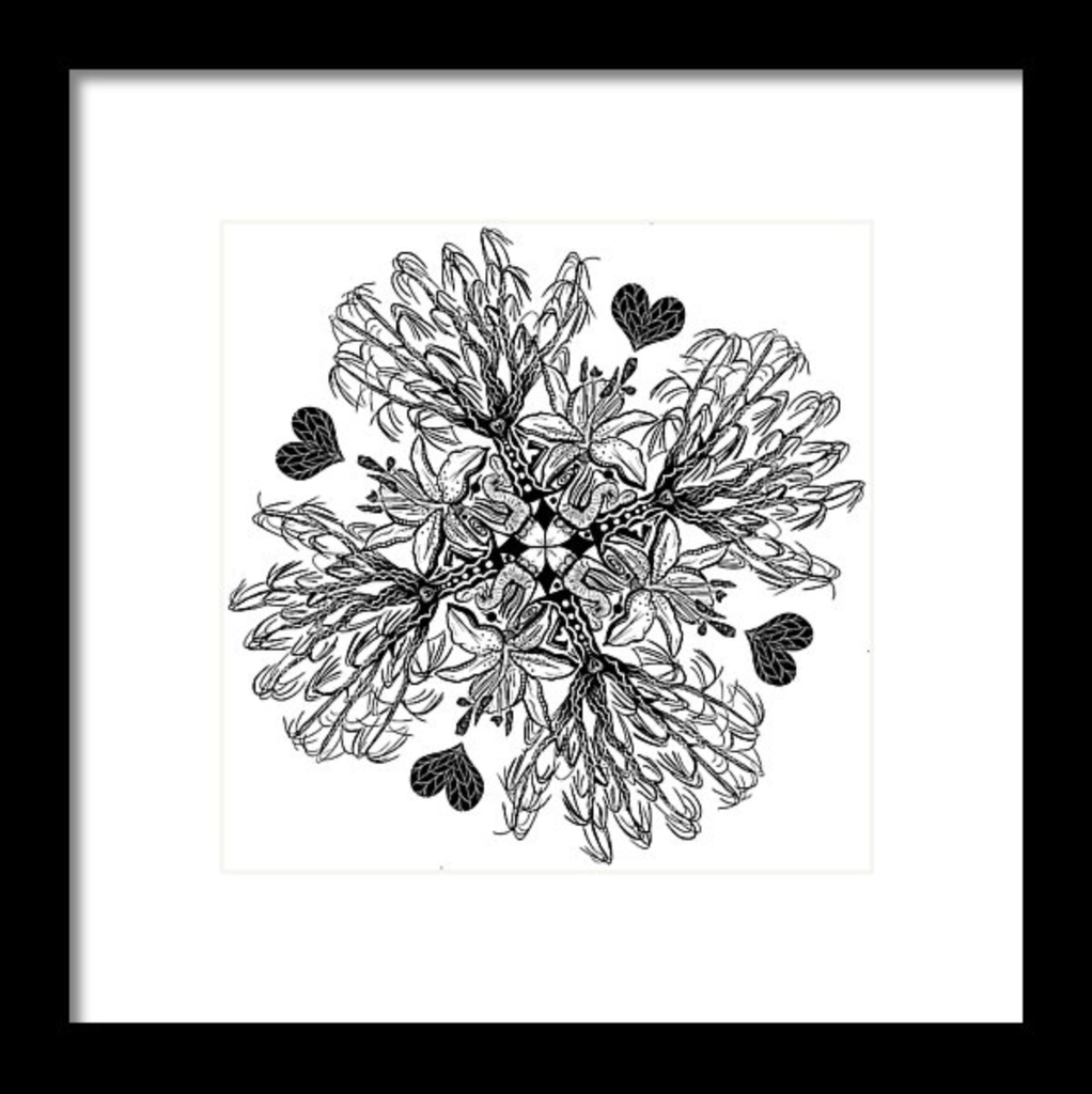 """Mandala"" Art Print #3 by Artist Dan Pearce - Dan Pearce Creative Shop"