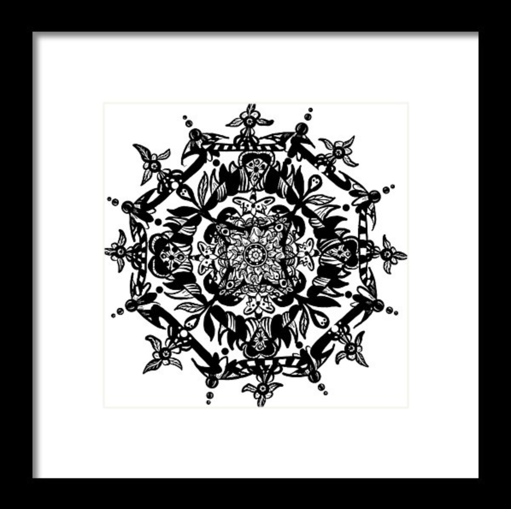 """Mandala"" Art Print #4 by Artist Dan Pearce - Dan Pearce Creative Shop"