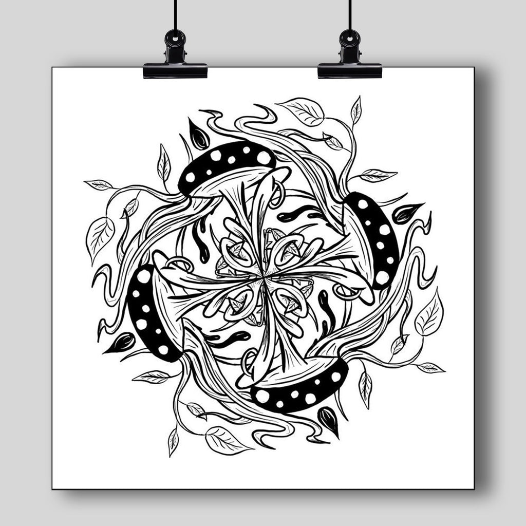 """Mandala"" Art Print #5 by Artist Dan Pearce - Dan Pearce Creative Shop"