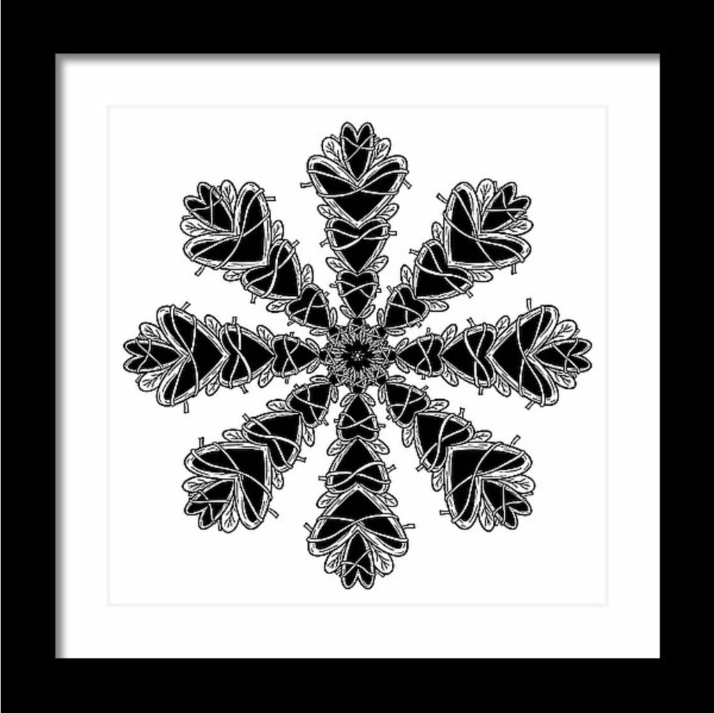 """Mandala"" Art Print #6 by Artist Dan Pearce - Dan Pearce Creative Shop"