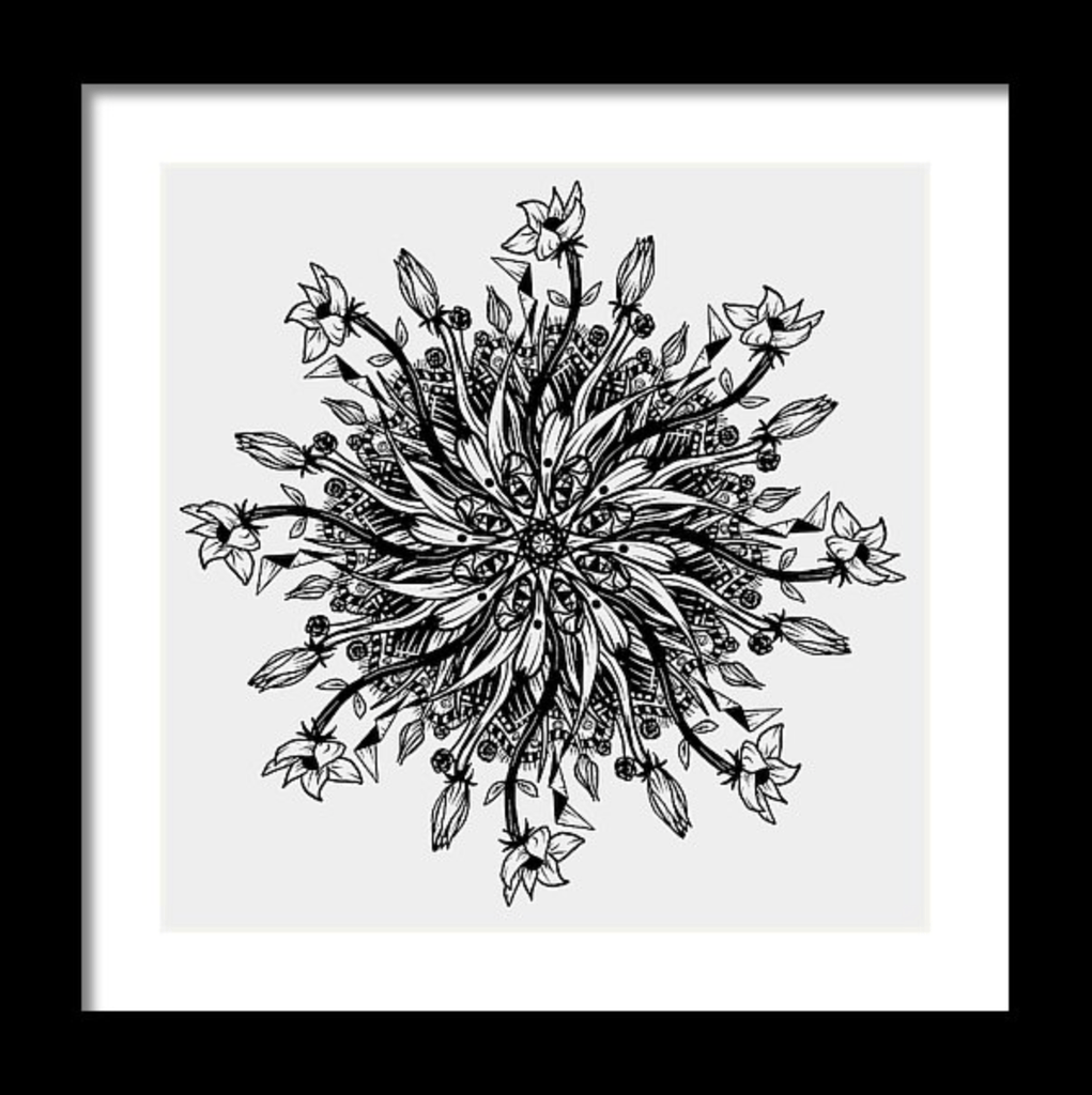 """Mandala"" Art Print #7 by Artist Dan Pearce - Dan Pearce Creative Shop"