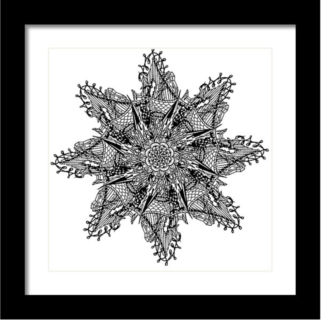 """Mandala"" Art Print #8 by Artist Dan Pearce - Dan Pearce Creative Shop"