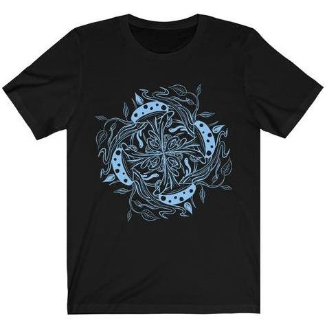 Mandala Premium T-Shirt Design #1 (blue version) - Dan Pearce Creative Shop