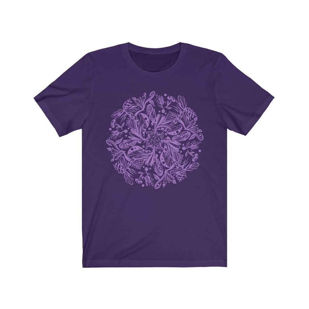 Mandala Premium T-Shirt Design #2 (purple version) - Dan Pearce Creative Shop