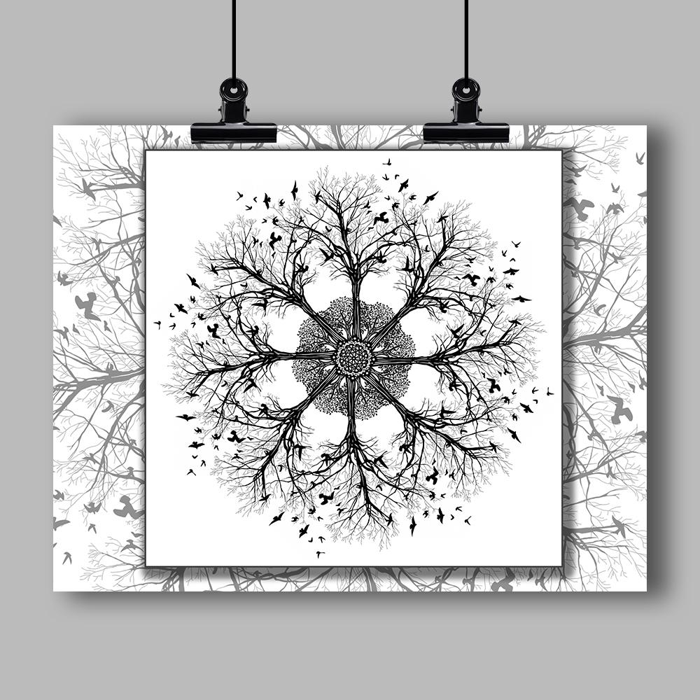 """Mandala"" Specialty Art Print #10 by Artist Dan Pearce - Dan Pearce Creative Shop"