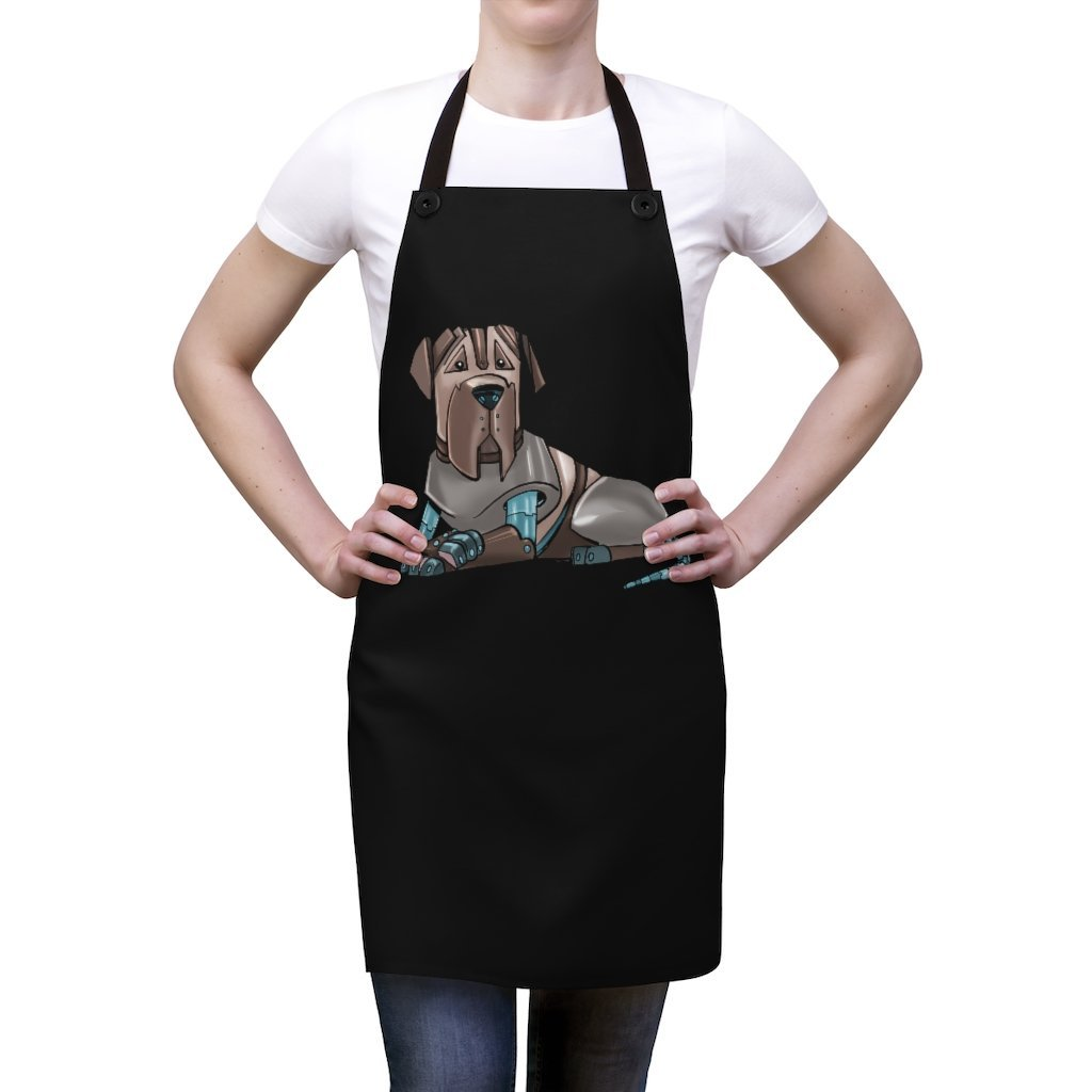 """Mastiff Robot"" Cooking Apron Featuring Art by Dan Pearce - Dan Pearce Creative Shop"