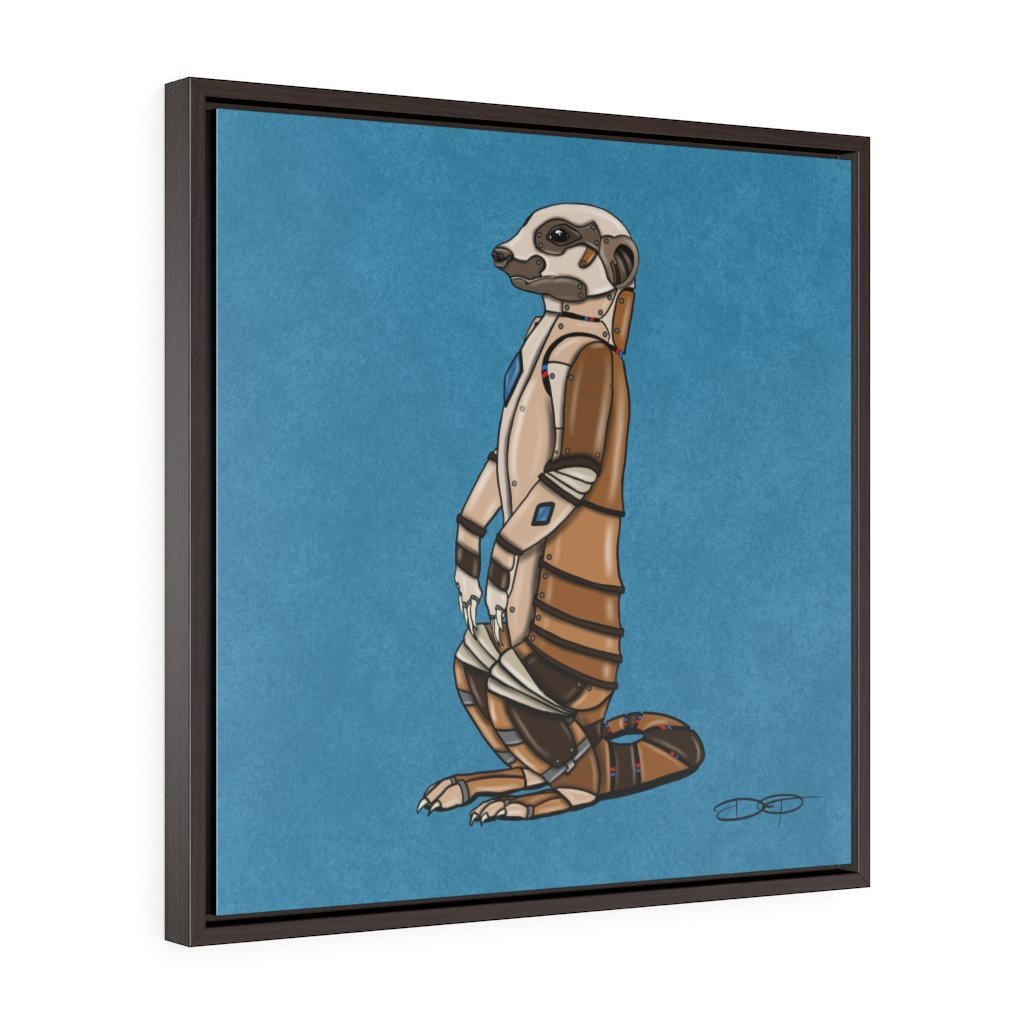 """Meerkat Robot"" Art (Square) Framed Premium Gallery Wrap Canvas - Dan Pearce Creative Shop"