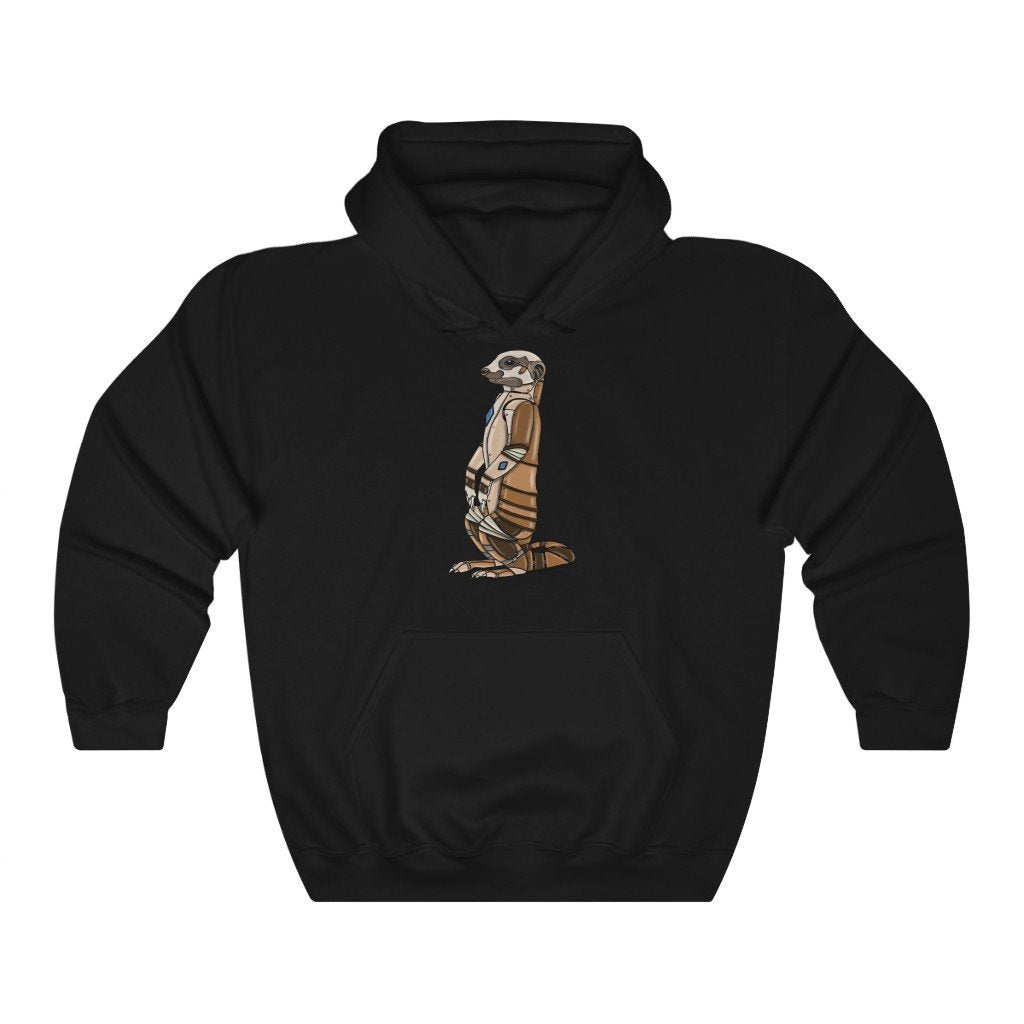"""Meerkat Robot"" Hooded Sweatshirt by Dan Pearce (Hoodie) - Dan Pearce Creative Shop"