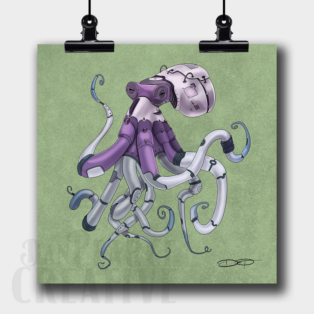 Octopus Robot Fine Art Print Created by Dan Pearce - Dan Pearce Creative Shop