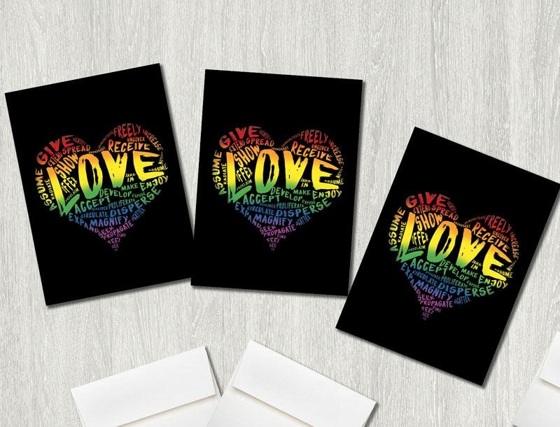 "Official ""LOVE"" Premium Greeting Card(s) Featuring Art by Dan Pearce - Dan Pearce Creative Shop"