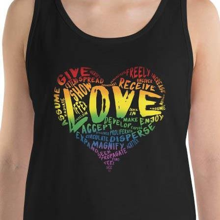 Official LOVE Unisex Tank Top by Single Dad Laughing - Dan Pearce Creative Shop