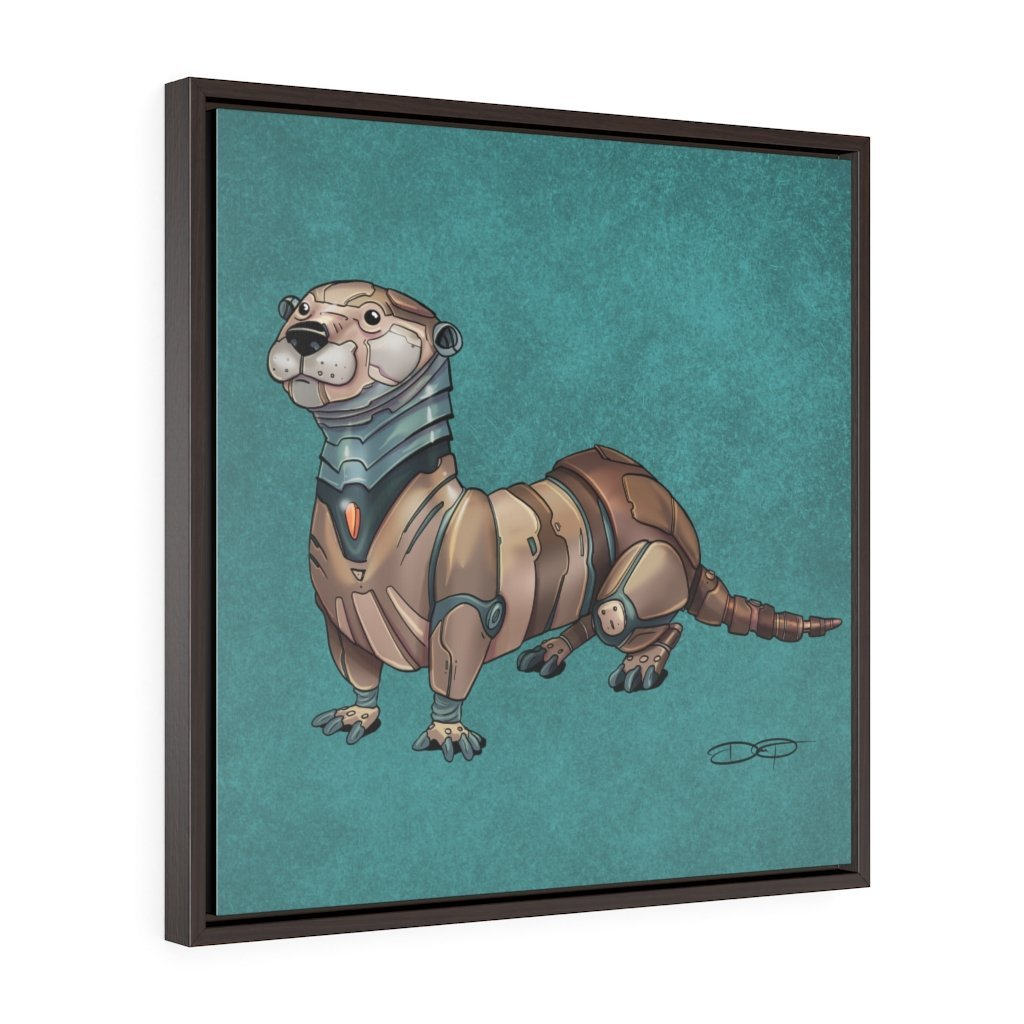 """Otter Robot"" Art (Square) Framed Premium Gallery Wrap Canvas - Dan Pearce Creative Shop"
