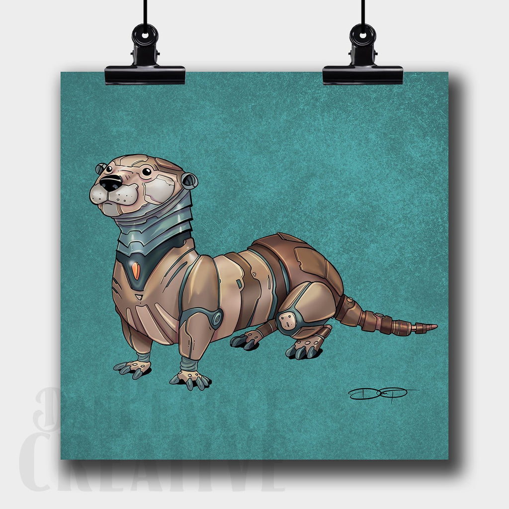 Otter Robot Fine Art Print Created by Dan Pearce - Dan Pearce Creative Shop