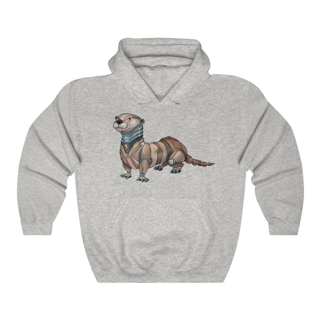 """Otter Robot"" Hooded Sweatshirt by Dan Pearce (Hoodie) - Dan Pearce Creative Shop"