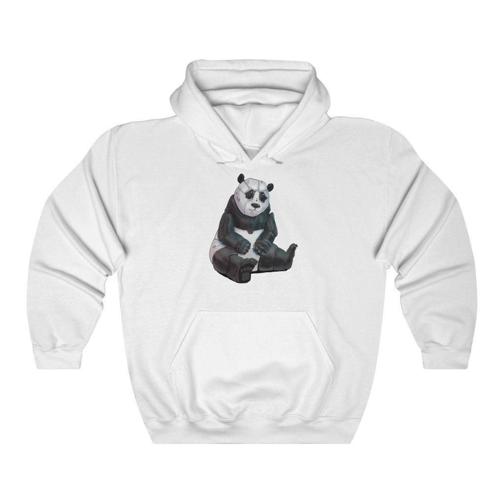 """Panda Bear Robot"" Hooded Sweatshirt by Dan Pearce (Hoodie) - Dan Pearce Creative Shop"