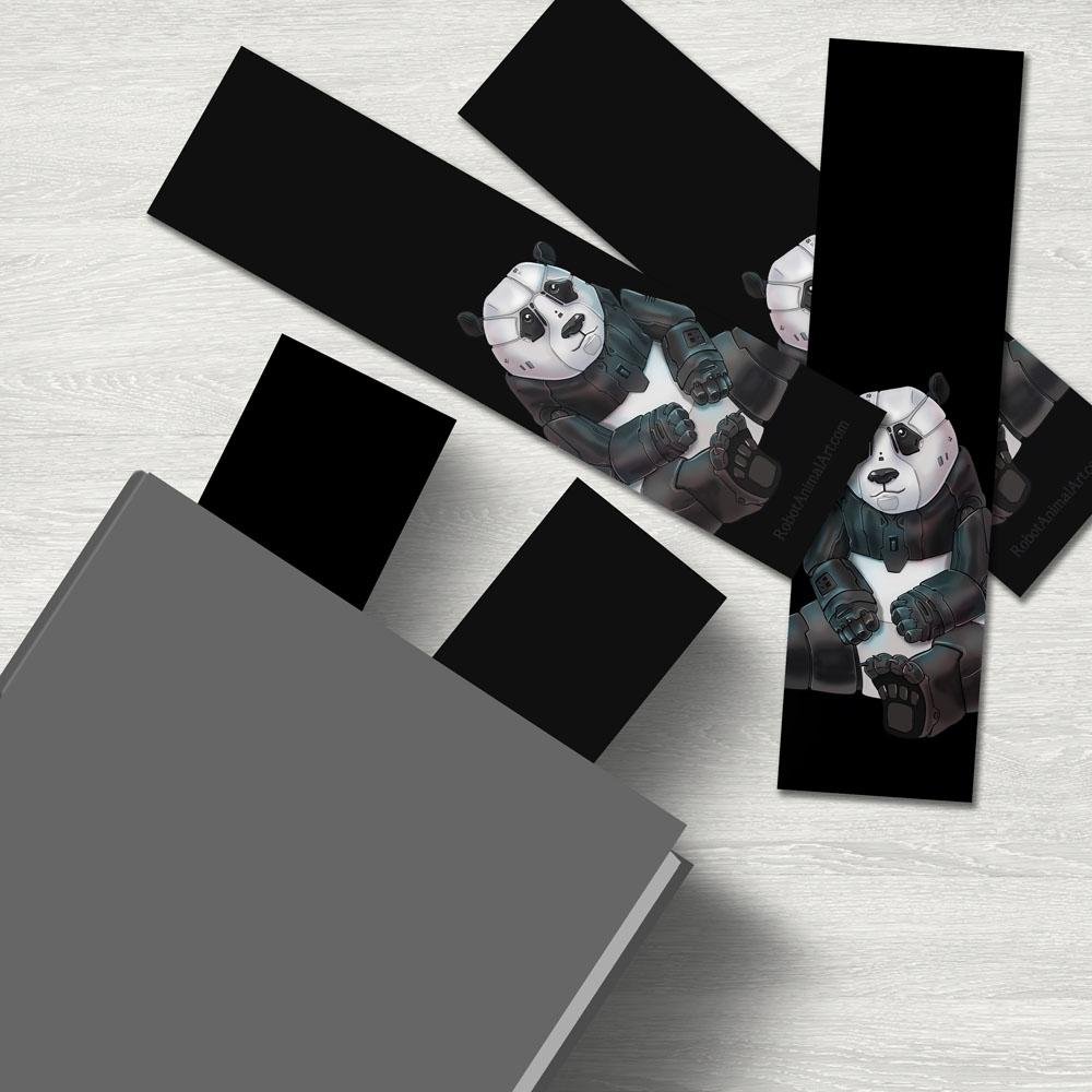 """Panda Robot"" Premium Bookmark Featuring Art by Dan Pearce - Dan Pearce Creative Shop"