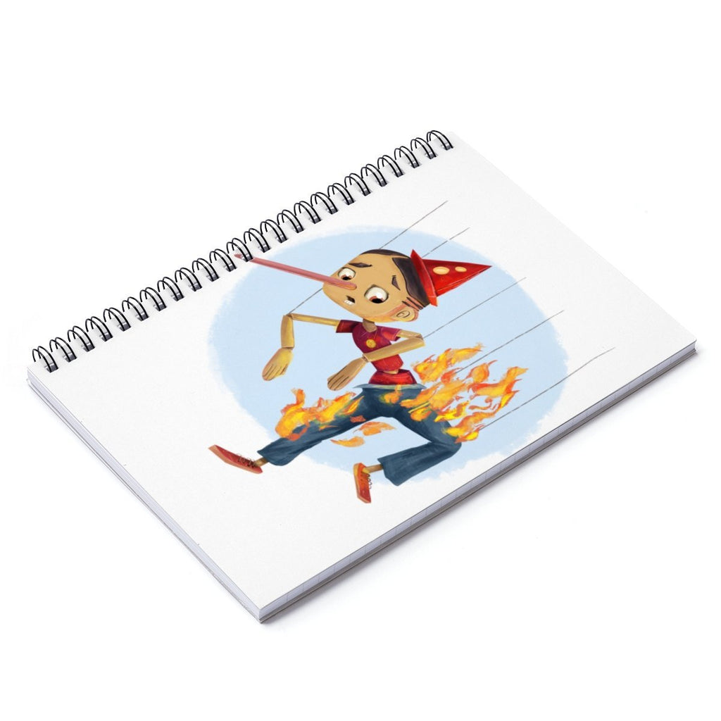 """Pants on Fire"" Pinocchio Designer Notebook - Dan Pearce Creative Shop"