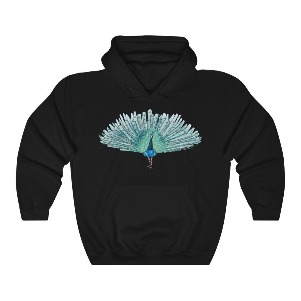 """Peacock Robot"" Hooded Sweatshirt by Dan Pearce (Hoodie) - Dan Pearce Creative Shop"