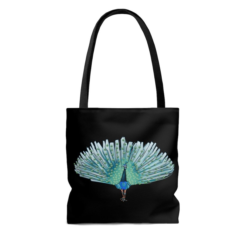 """Peacock Robot"" Tote Bag - Dan Pearce Creative Shop"