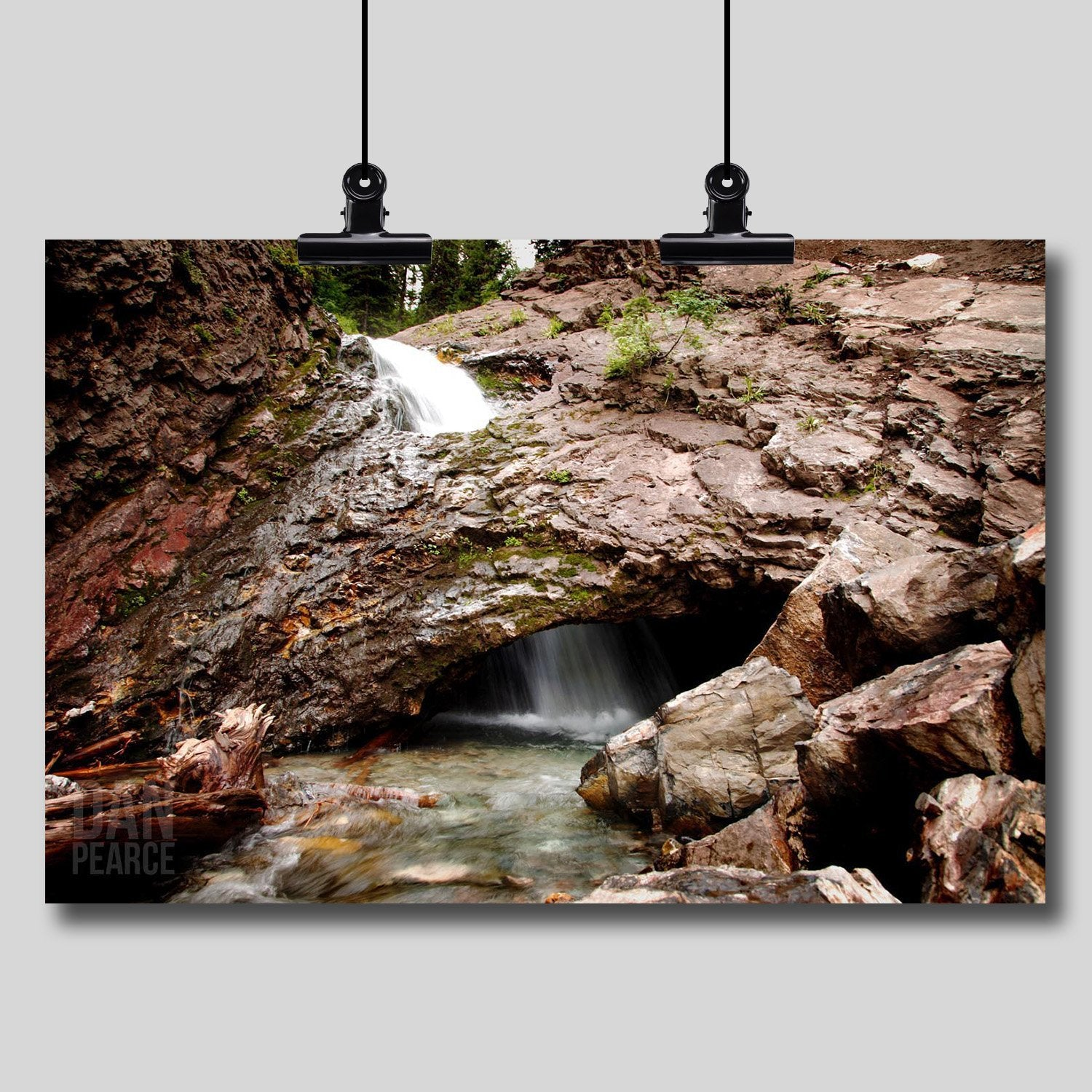 Photo Print: Donut Falls (Waterfall Into a Cave)