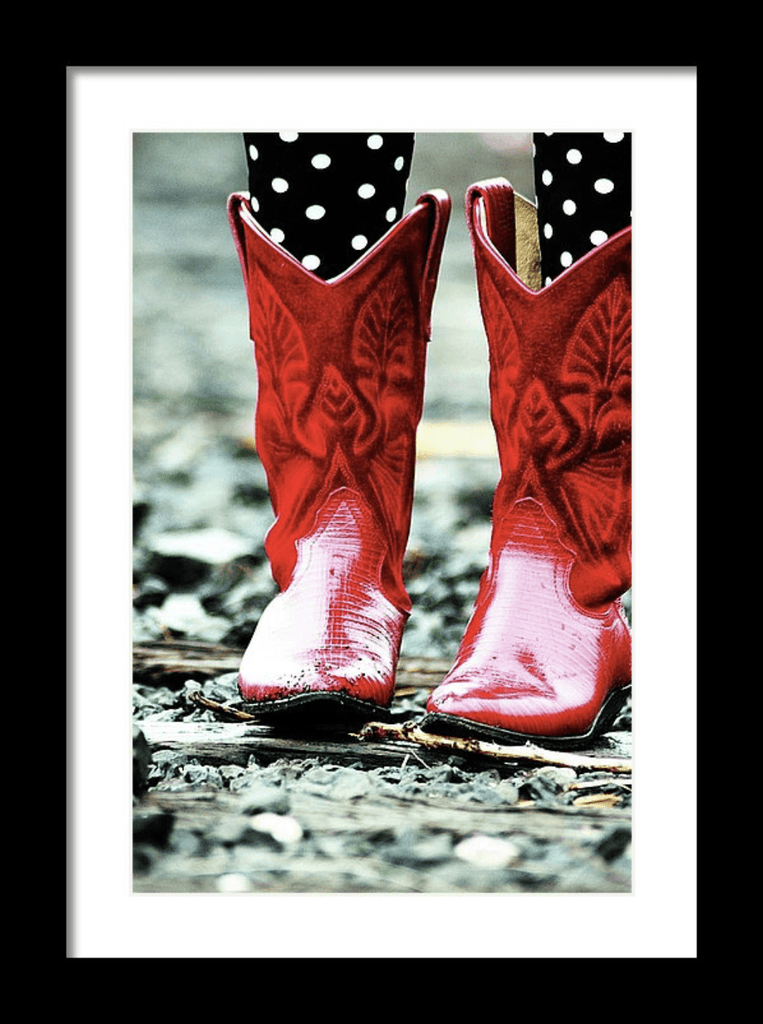 Photo Print: Serenity - Red Boots - Dan Pearce Creative Shop