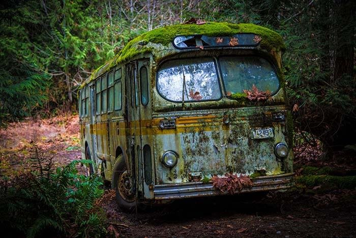 Photo Print: The Abandoned Bus - Dan Pearce Creative Shop