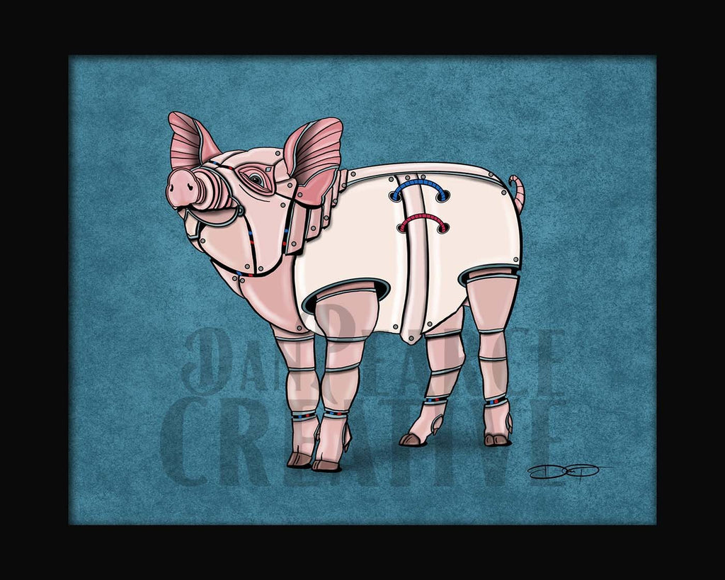 Pig Robot Fine Art Print Created by Dan Pearce - Dan Pearce Creative Shop