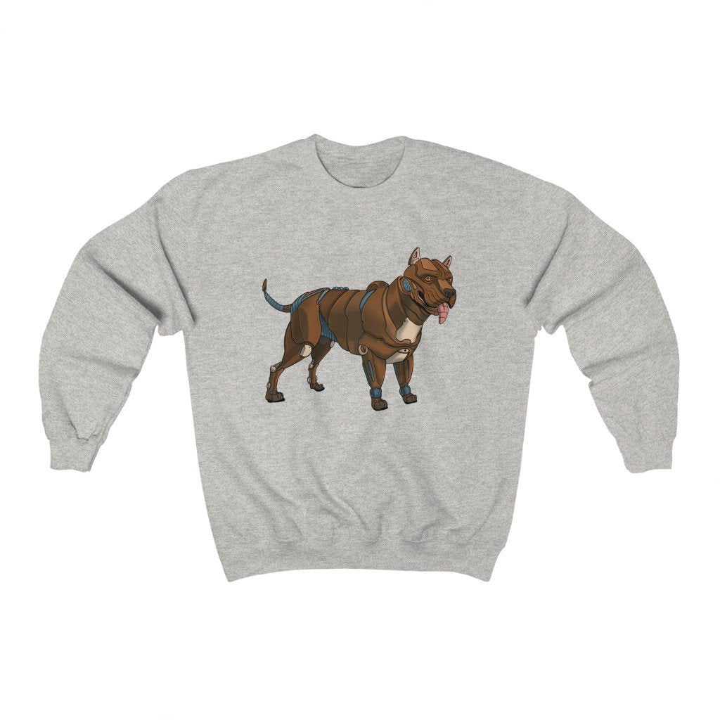 """Pitbull Terrier Robot"" Crewneck Premium Sweatshirt - Dan Pearce Creative Shop"