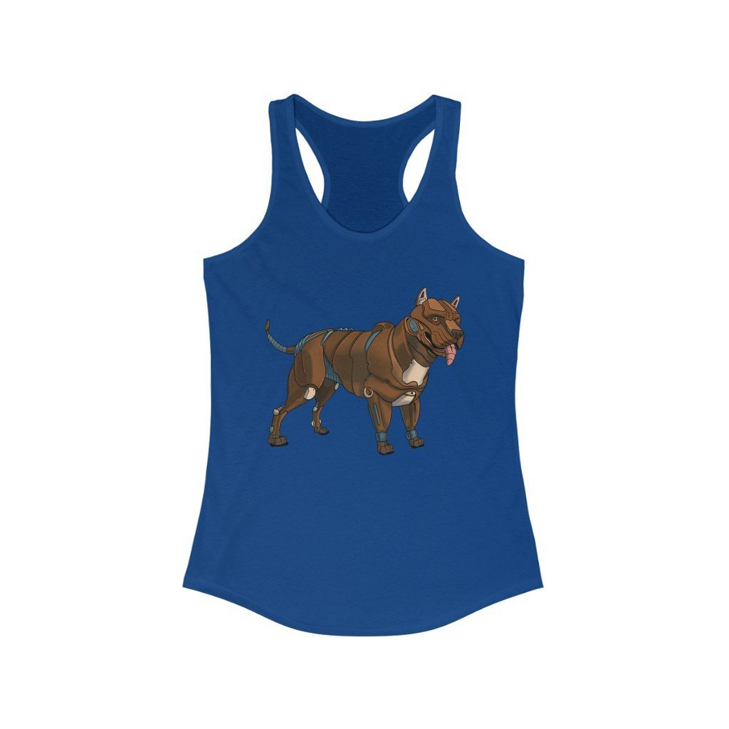 """Pitbull Terrier Robot"" Women's Ideal Racerback Tank - Dan Pearce Creative Shop"