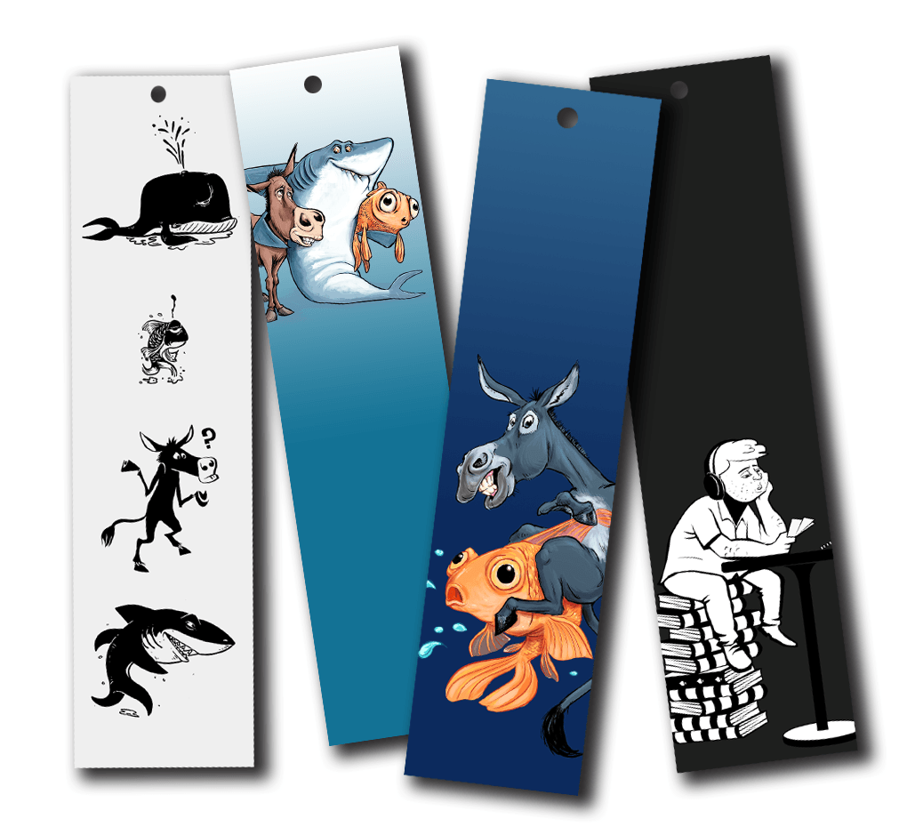 Poker Art Bookmarks Pack #2 (4 bookmarks!) - Dan Pearce Creative Shop