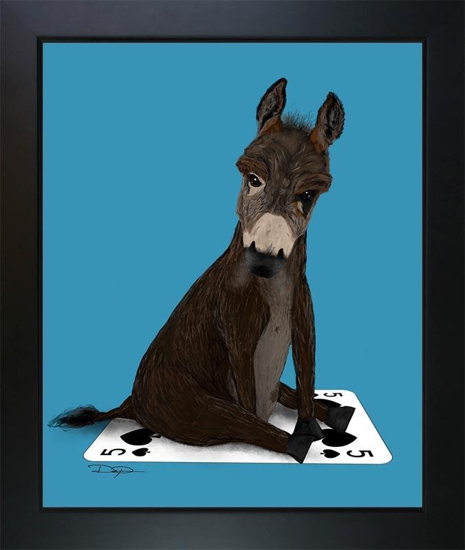 Poker Art Print: Badass Donkey - Dan Pearce Creative Shop