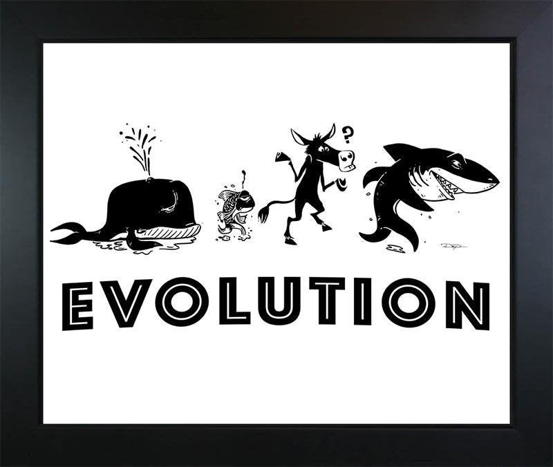Poker Art Print: The Evolution of a Poker Player - Dan Pearce Creative Shop