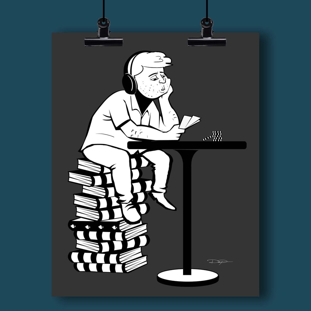 Poker Art Print: The Studying Player - Dan Pearce Creative Shop