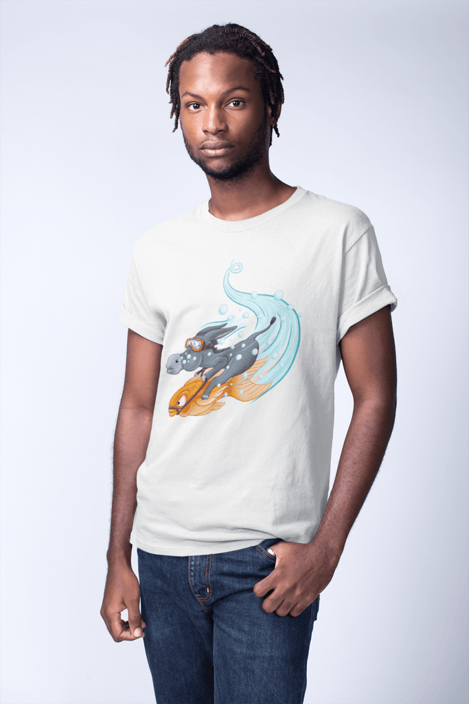 Poker T-Shirt: Donkey Riding a Fish #2 - Dan Pearce Creative Shop