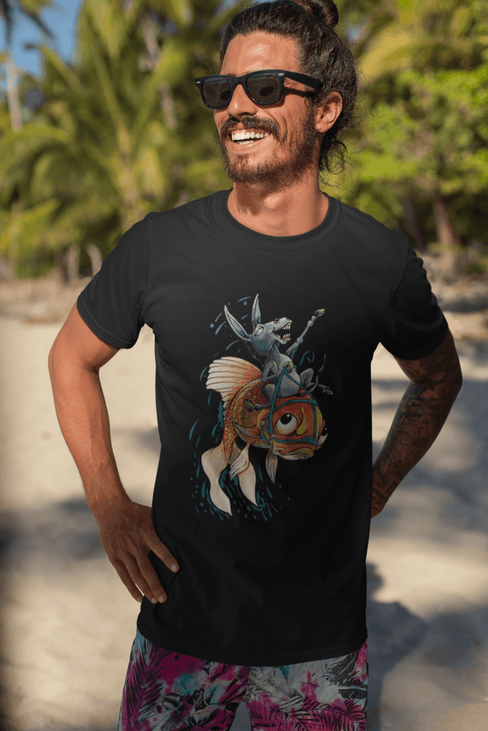 Poker T-Shirt: Donkey Riding a Fish #3 - Dan Pearce Creative Shop