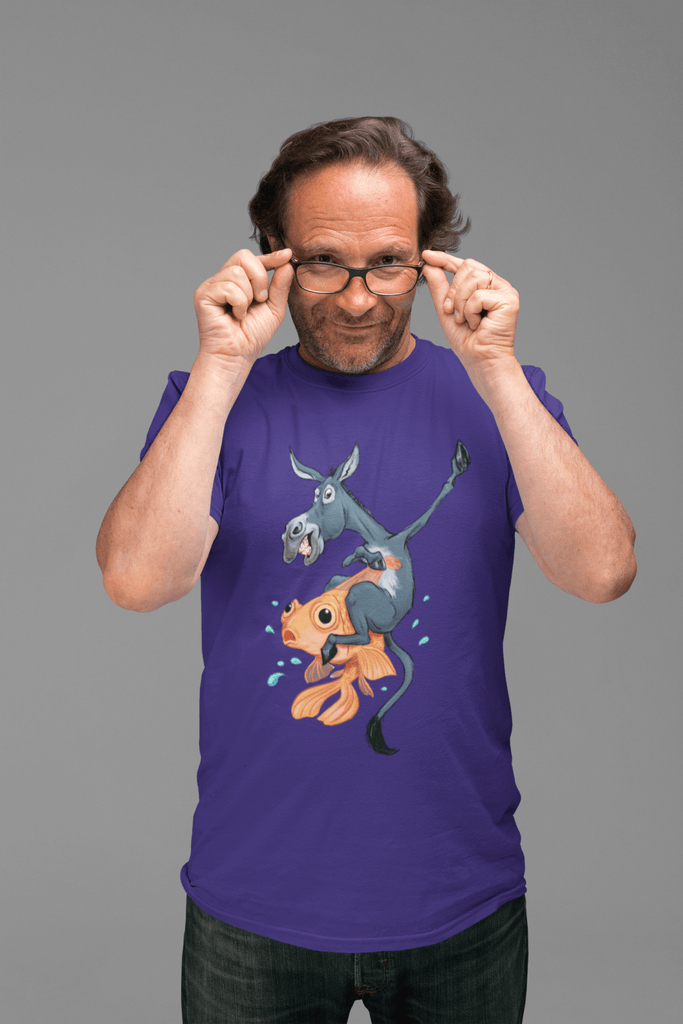 Poker T-Shirt: Donkey Riding a Fish - Dan Pearce Creative Shop