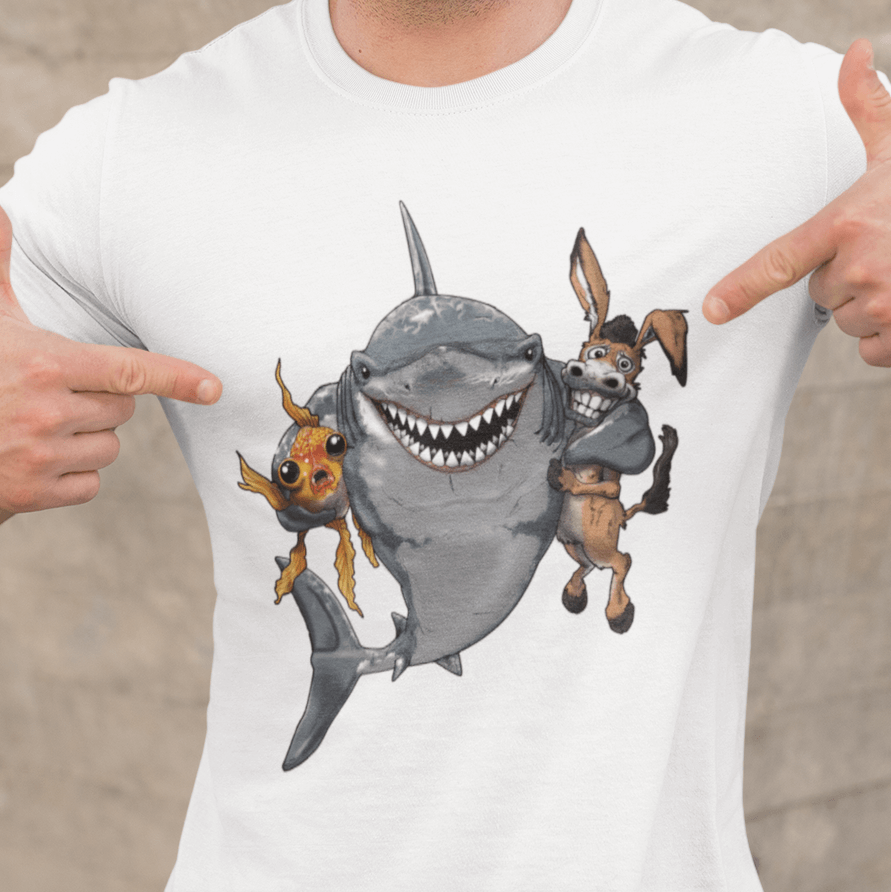 Poker T-Shirt - Sharks: Keep Your Fish and Your Donkeys Close - Dan Pearce Creative Shop