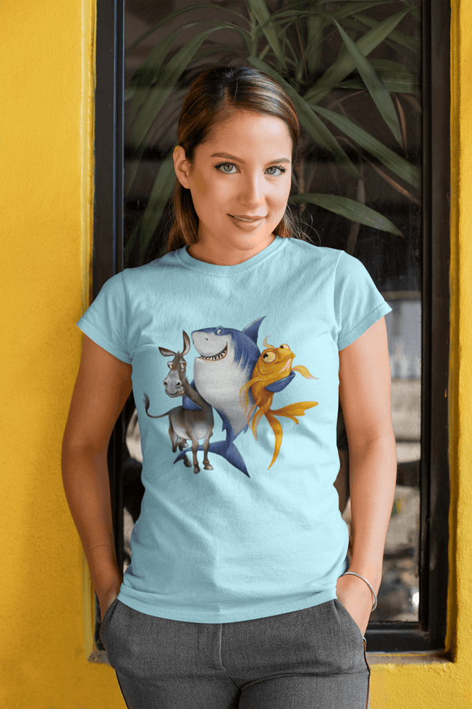 Poker T-Shirt - The Donkey & The Fish: Always A Shark's Best Friends #3 - Dan Pearce Creative Shop
