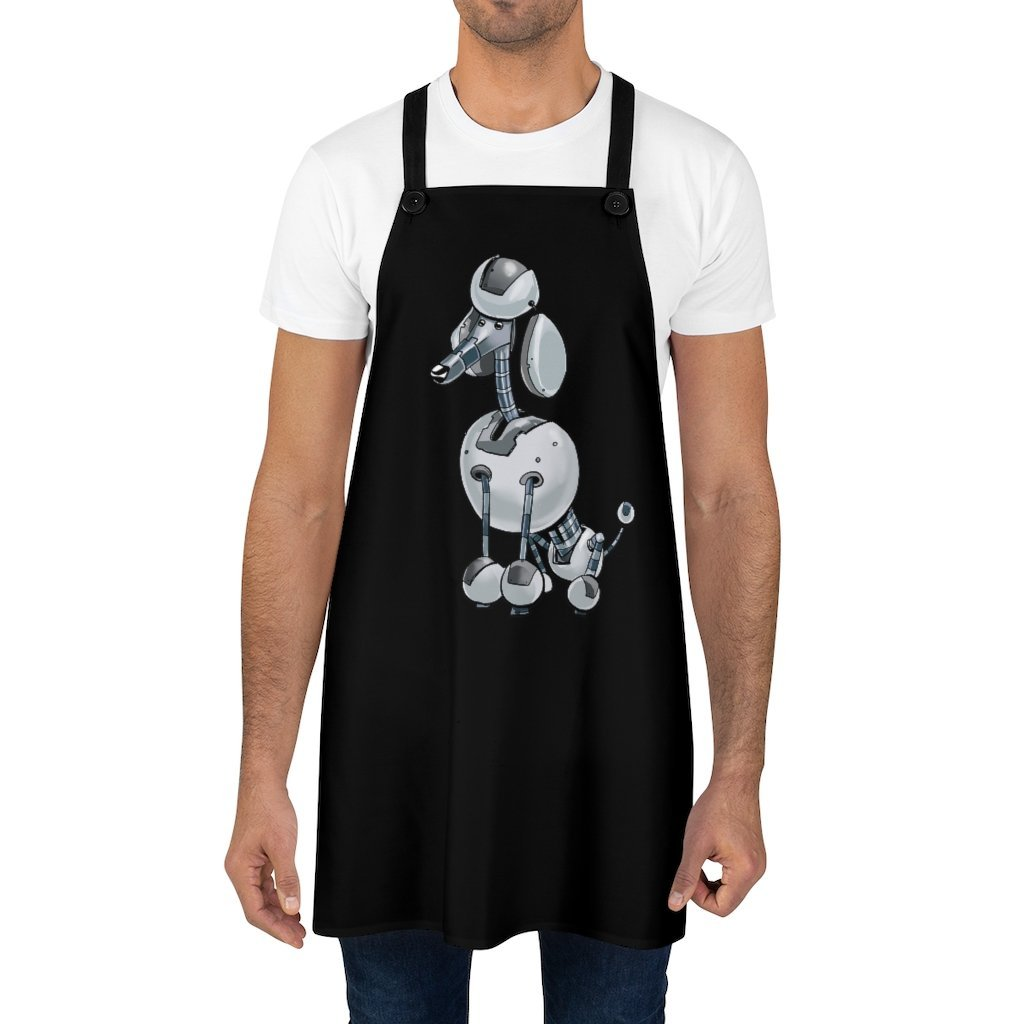 """Poodle Robot"" Cooking Apron Featuring Art by Dan Pearce - Dan Pearce Creative Shop"
