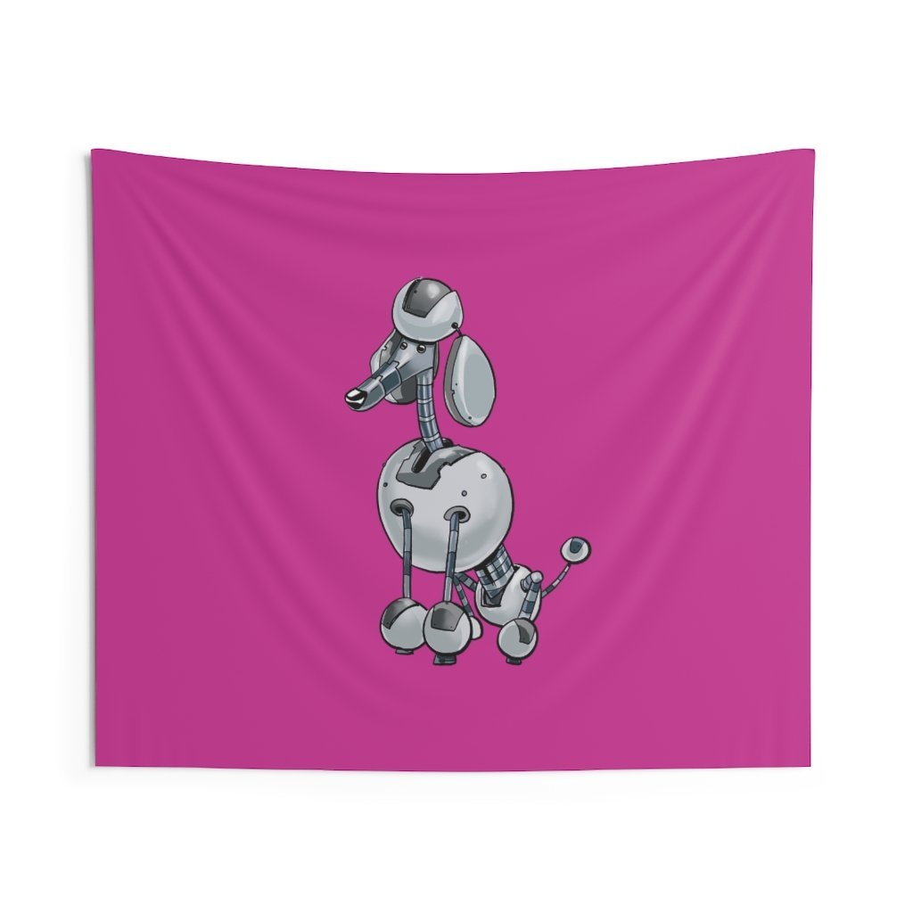 """Poodle Robot"" Indoor Wall Tapestry - Dan Pearce Creative Shop"