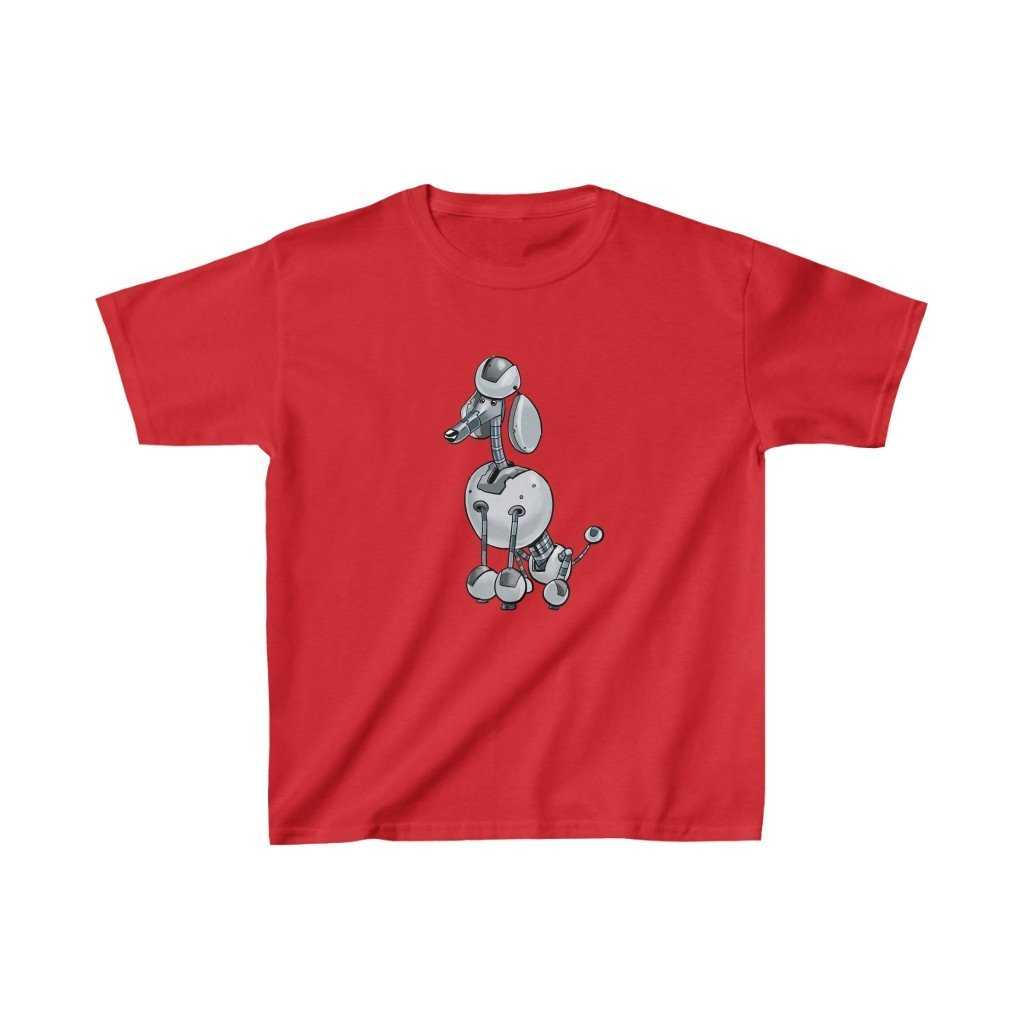 """Poodle Robot"" Kids Heavy Cotton™ T-Shirt (Youth) - Dan Pearce Creative Shop"