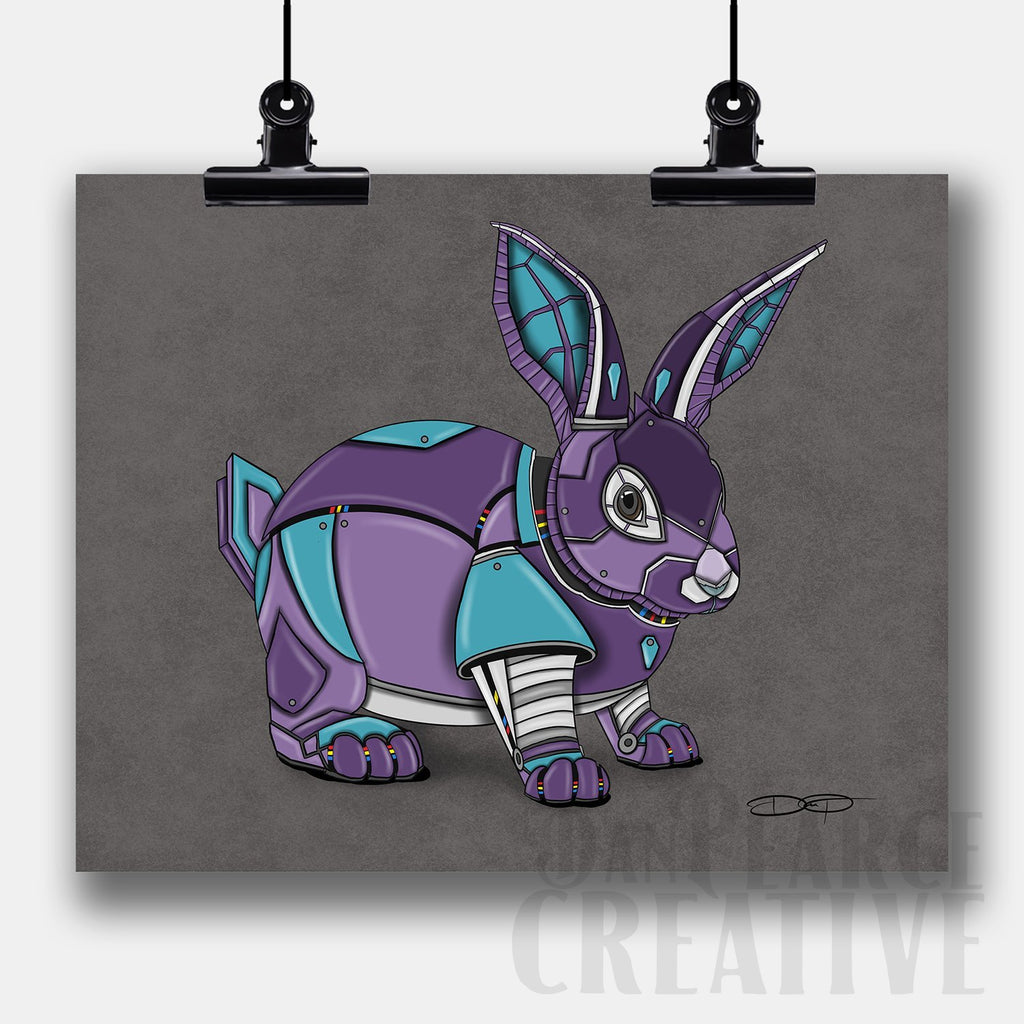 Rabbit Robot Fine Art Print Created by Dan Pearce - Dan Pearce Creative Shop