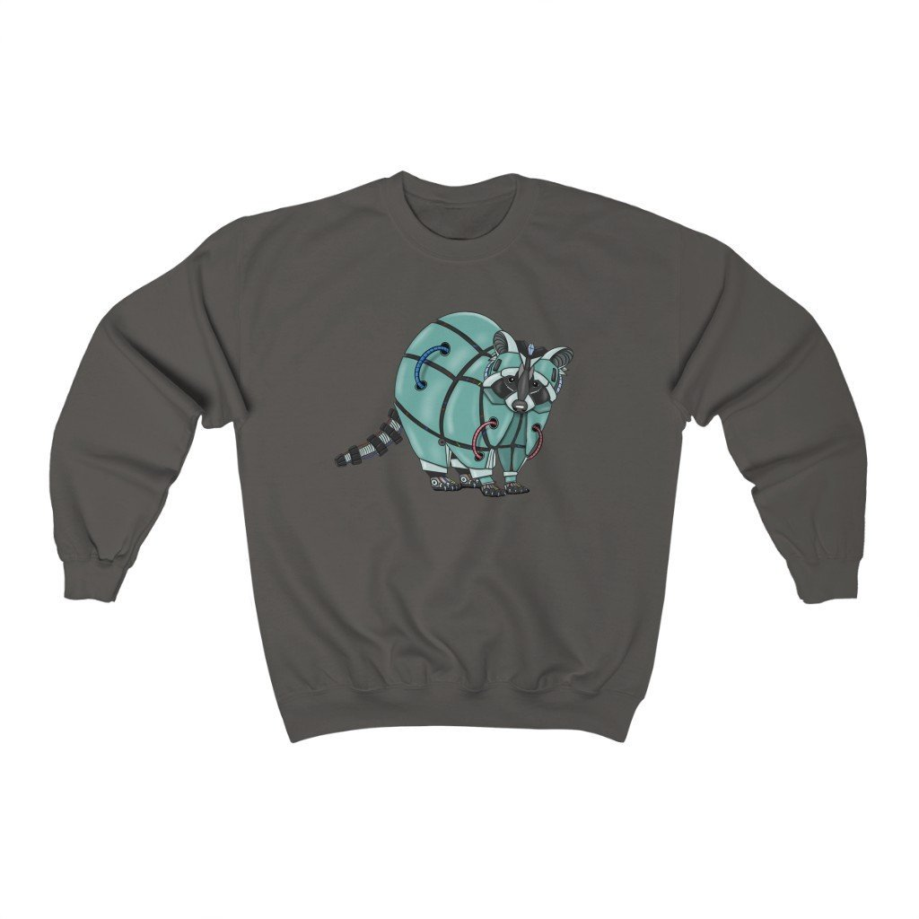 """Raccoon Robot"" Crewneck Premium Sweatshirt - Dan Pearce Creative Shop"