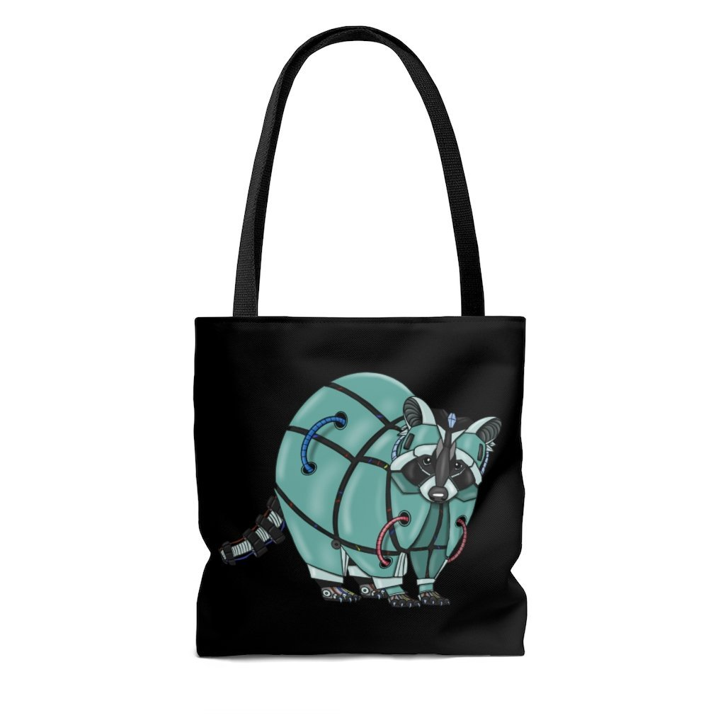 """Raccoon Robot"" Tote Bag - Dan Pearce Creative Shop"
