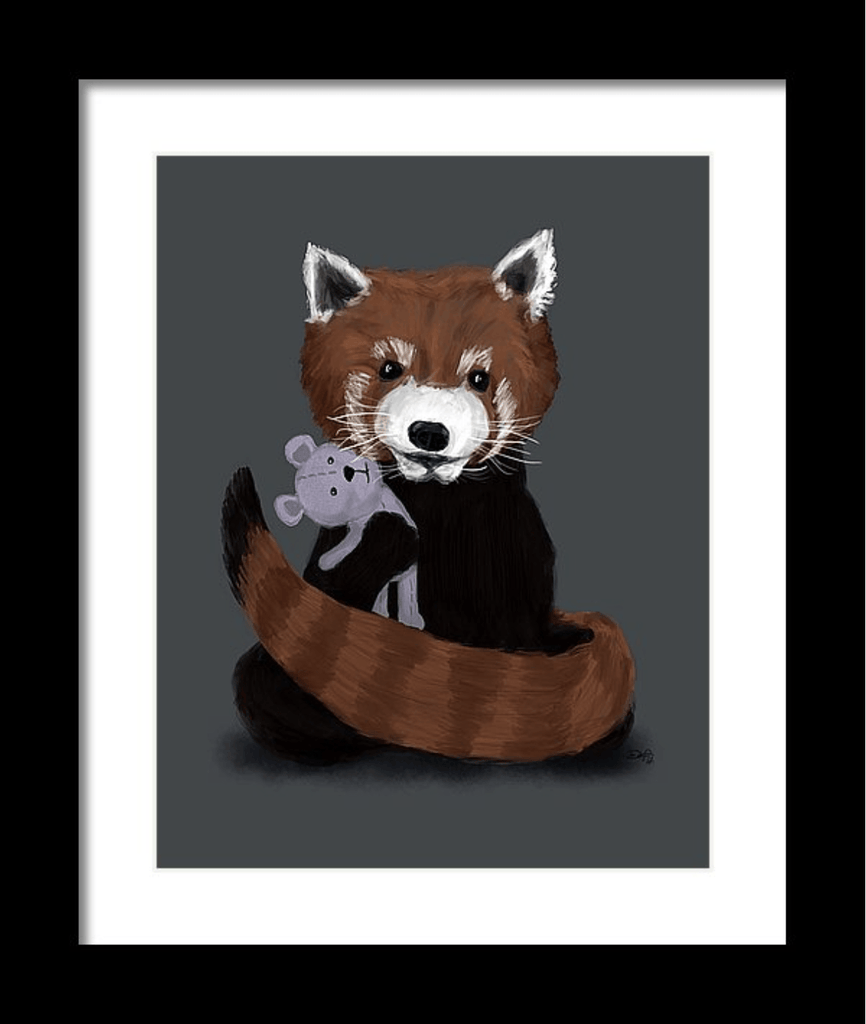"""Red Panda"" Art Print - Dan Pearce Creative Shop"