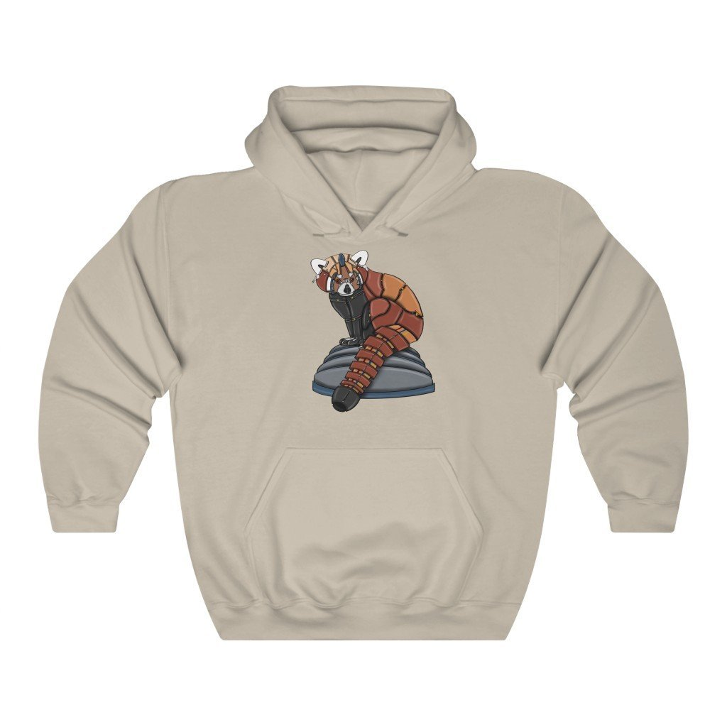 """Red Panda Robot"" Hooded Sweatshirt by Dan Pearce (Hoodie) - Dan Pearce Creative Shop"