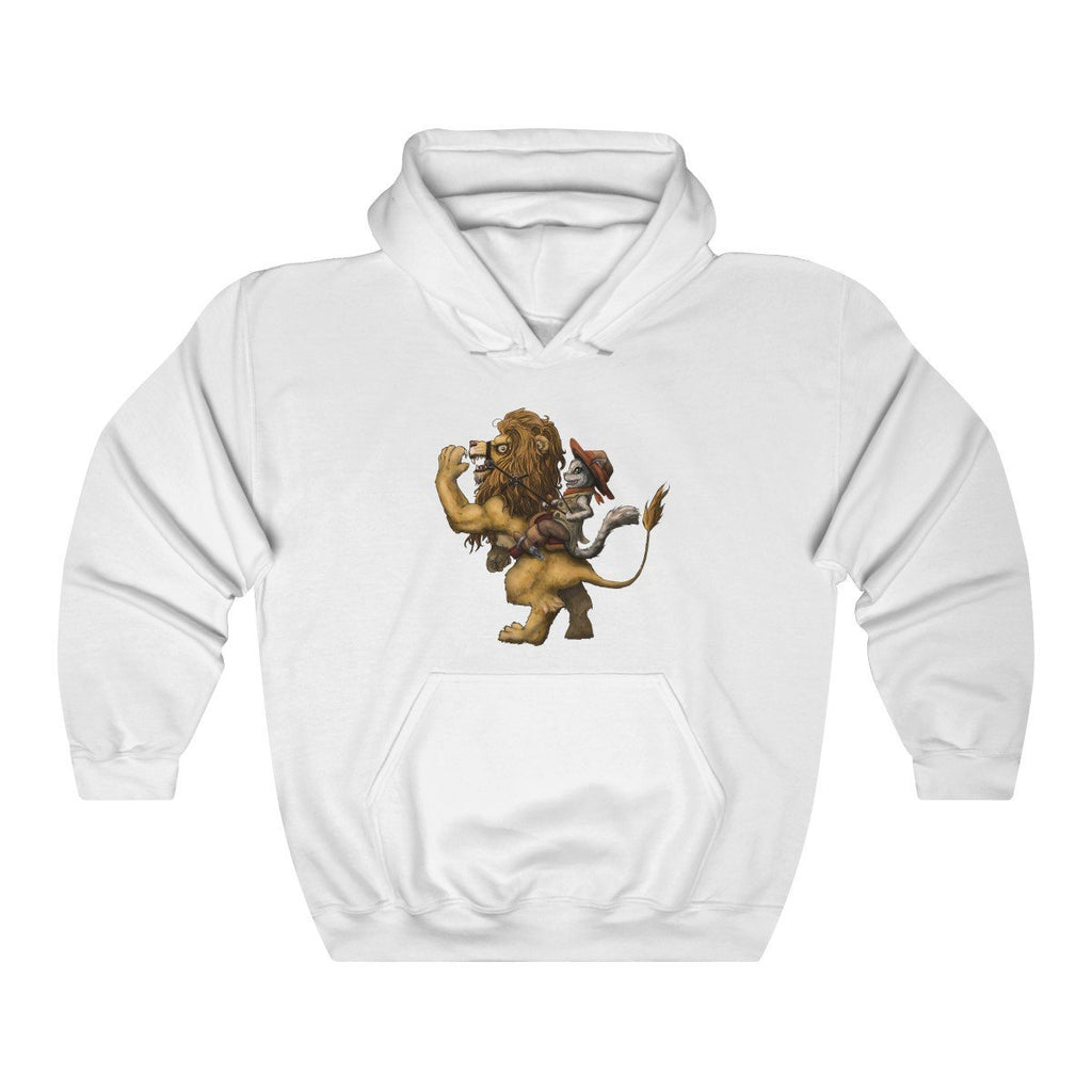 """Ride 'em Before They Ride You"" Cat and Lion Premium Hooded Sweatshirt (Hoodie) #1 - Dan Pearce Creative Shop"